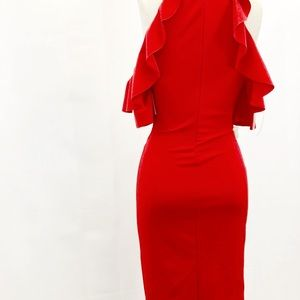 Dresses - Red form fitting Dress